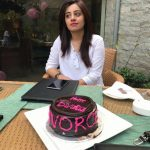Woman in Lahore Celebrating Divorce with Cake