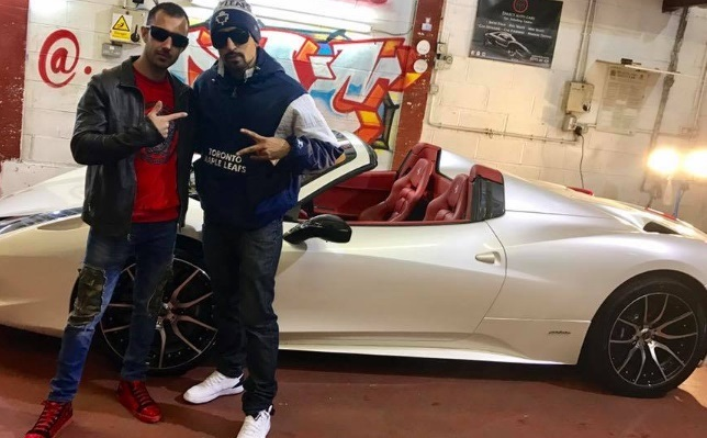 us rapper plans to buy zahid khan new ferrari after old one crushed