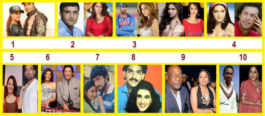 10 Famous Cricketers And their Love Affairs with Bollywood Actresses
