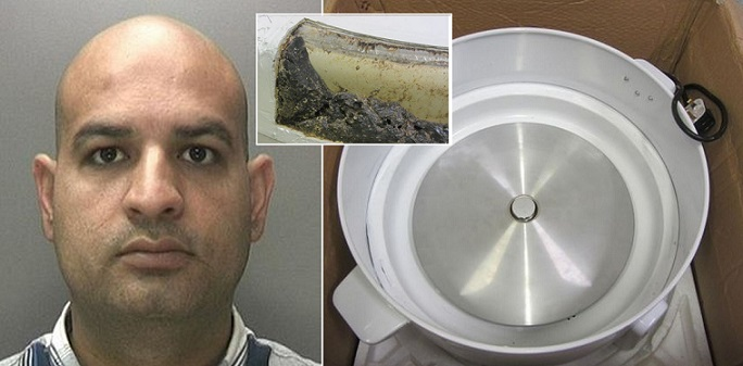 Qaiser Khan Tried to Smuggle £500,000 Heroin into UK from Pakistan, Hidden Pressure Cookers, Can't Travel Overseas