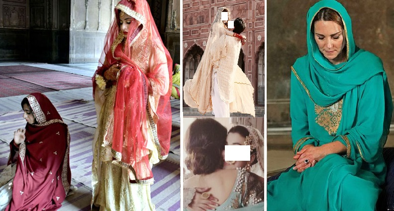 Bride Offers Prayer at Badshahi Mosque, Lahore As Wedding Photography is Banned