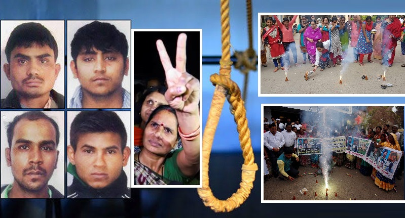4 Men Executed for Brutal Assault and Murder of Girl in Moving Bus, People Celebrates