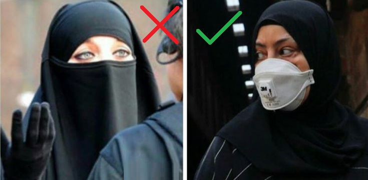 Face Masks Are Now Compulsory But The 'Burqa Ban' Remains in Place in France