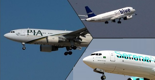 Licences of 160 Pilots from PIA, Airblue and SereneAir declared 'Suspicious'