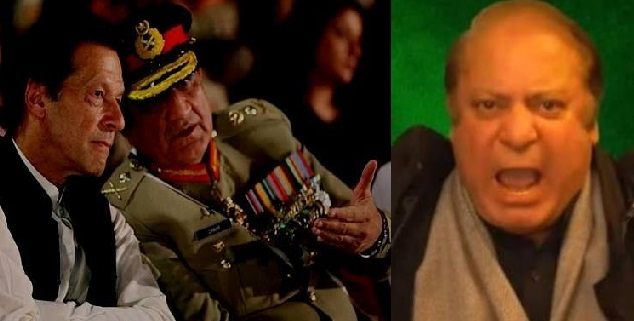 Nawaz Sharif Accuses Army Chief Bajwa of Toppling His Government