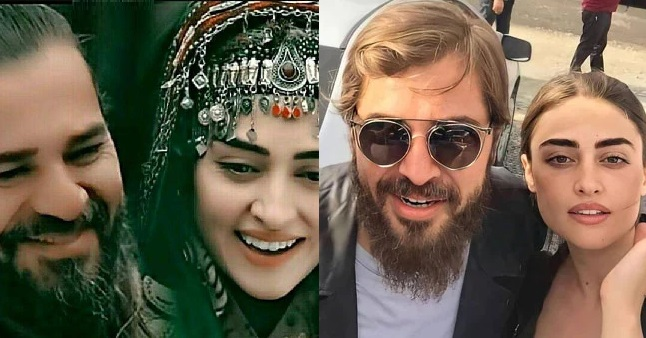 Esra Bilgic and Ertugrul's New Photo Posing Together, Breaks The Internet