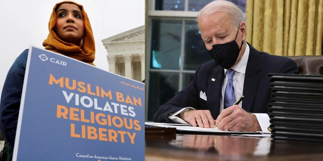 Joe Biden Ends The Travel Ban On Muslims On His First Day In Office