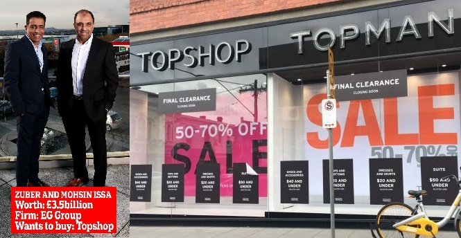 Blackburn Issa Brothers Head to Head Competing to Buy Collapsed Topshop